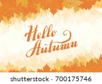 hello  autumn vector ... | Shutterstock .eps vector #700175746
