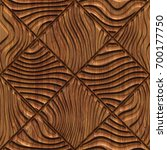 Carved Pattern On Wood...