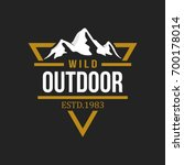 outdoor logo design template | Shutterstock .eps vector #700178014