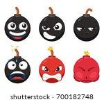 cartoon character of funny bomb ...   Shutterstock .eps vector #700182748
