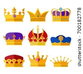 golden crowns of kings  prince... | Shutterstock .eps vector #700182778