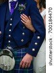 a traditional scottish groom... | Shutterstock . vector #700184470