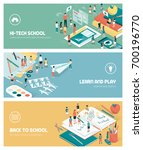 school  education and learning... | Shutterstock .eps vector #700196770