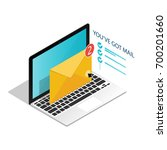 you've got mail isometric... | Shutterstock .eps vector #700201660