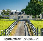 a small house in the... | Shutterstock . vector #700203814
