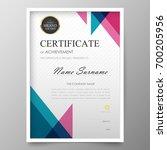 certificate premium template... | Shutterstock .eps vector #700205956