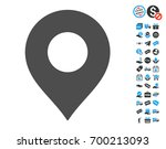 map marker grey pictograph with ... | Shutterstock .eps vector #700213093