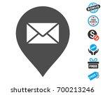 mail letter marker gray icon... | Shutterstock .eps vector #700213246