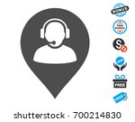 call center marker grey... | Shutterstock .eps vector #700214830