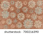watercolor blue and beige... | Shutterstock . vector #700216390