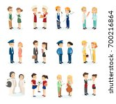 people's professions set on... | Shutterstock .eps vector #700216864