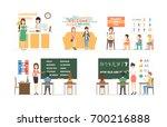 language course set of...   Shutterstock .eps vector #700216888