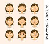 female head showing different... | Shutterstock .eps vector #700219144