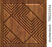 carved geometric pattern on... | Shutterstock . vector #700221016