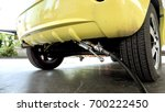 the car is filling lpg with...   Shutterstock . vector #700222450