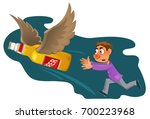 alcohol is harmful to health....   Shutterstock .eps vector #700223968