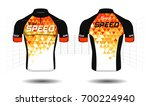 cycle jersey. cycling shirt.... | Shutterstock .eps vector #700224940