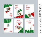 mexico patriotic cards for... | Shutterstock .eps vector #700225318