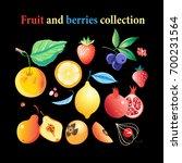 vector set of bright tasty... | Shutterstock .eps vector #700231564