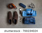 men's casual clothes outfits... | Shutterstock . vector #700234024