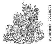 mehndi flower pattern for henna ... | Shutterstock .eps vector #700238776