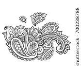 henna tattoo flower template.... | Shutterstock .eps vector #700238788