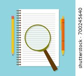 spiral opened notepad with... | Shutterstock .eps vector #700245640