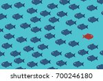 think differently  one red...   Shutterstock .eps vector #700246180