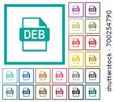 deb file format flat color... | Shutterstock .eps vector #700254790
