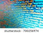 desktop pc monitor photo.... | Shutterstock . vector #700256974