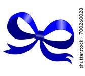 blue bow | Shutterstock .eps vector #700260028