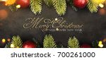 christmas and new year s... | Shutterstock . vector #700261000