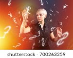 forex trading business concept... | Shutterstock . vector #700263259