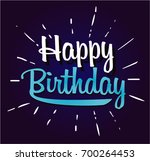 happy birthday cartoon | Shutterstock .eps vector #700264453