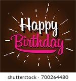 happy birthday cartoon | Shutterstock .eps vector #700264480