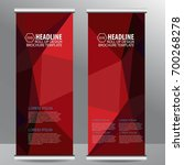roll up business brochure flyer ... | Shutterstock .eps vector #700268278