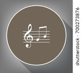 music violin clef sign. g clef... | Shutterstock .eps vector #700273876