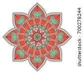 flower mandalas. vintage... | Shutterstock .eps vector #700278244