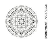 flower mandala. vintage...   Shutterstock .eps vector #700278268