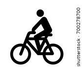 cyclist icon. | Shutterstock .eps vector #700278700