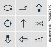 vector illustration of 9 sign... | Shutterstock .eps vector #700287640