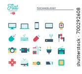technology  devices  gadgets... | Shutterstock .eps vector #700292608