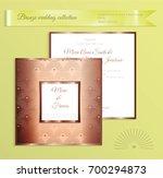 luxury bronze shiny wedding... | Shutterstock .eps vector #700294873