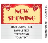 """image of a cinema """"now showing"""" ...   Shutterstock .eps vector #70029511"""