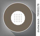 round biscuit sign. vector....   Shutterstock .eps vector #700302178