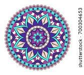 flower mandalas. vintage... | Shutterstock .eps vector #700304653