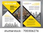 business brochure. flyer design....   Shutterstock .eps vector #700306276