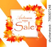 autumn sale and other...   Shutterstock .eps vector #700307248