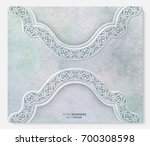 abstract invitation card with... | Shutterstock .eps vector #700308598