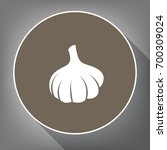 garlic simple sign. vector.... | Shutterstock .eps vector #700309024
